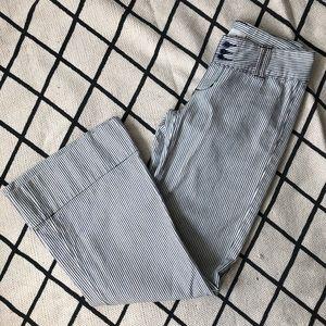 BDG Railroad Stripe Wide Leg Jeans